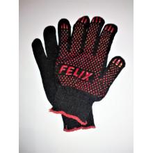 Перчатки FELIX хлопковые с пвх-покрытием (черные)
